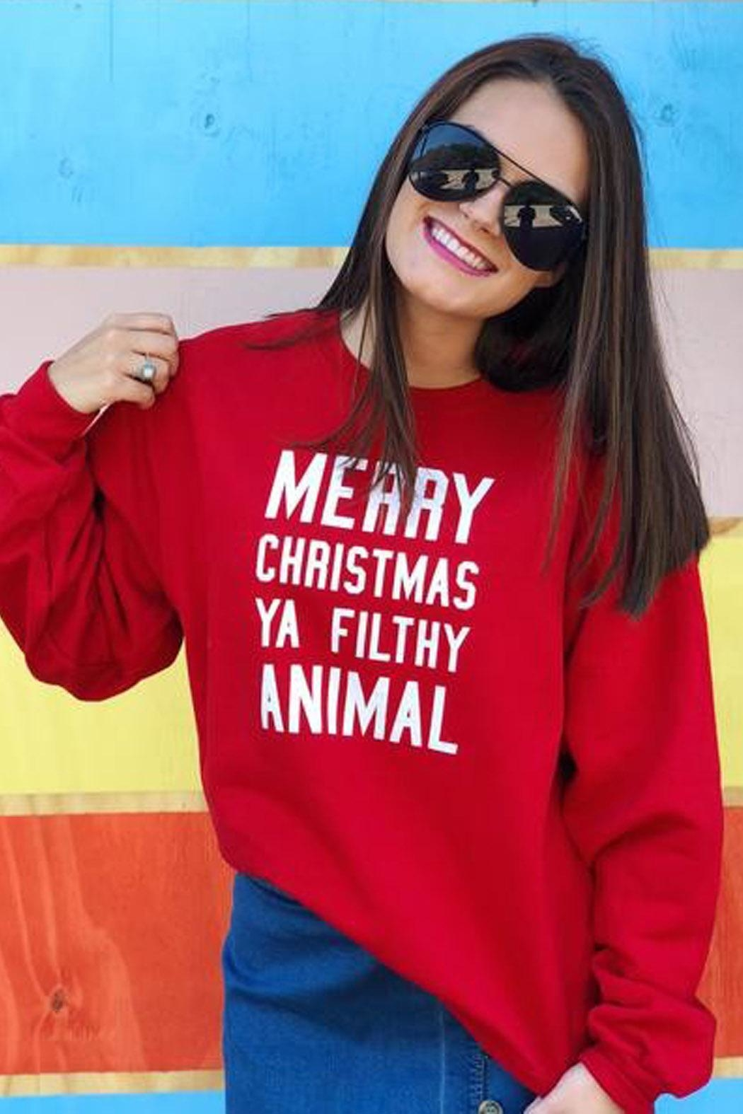 Wild Lilies Jewelry  Christmas Animal Sweater - Front Full Image