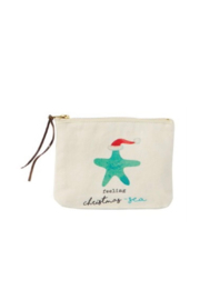 MudPie Christmas Beach Cosmetic Bags - Front cropped