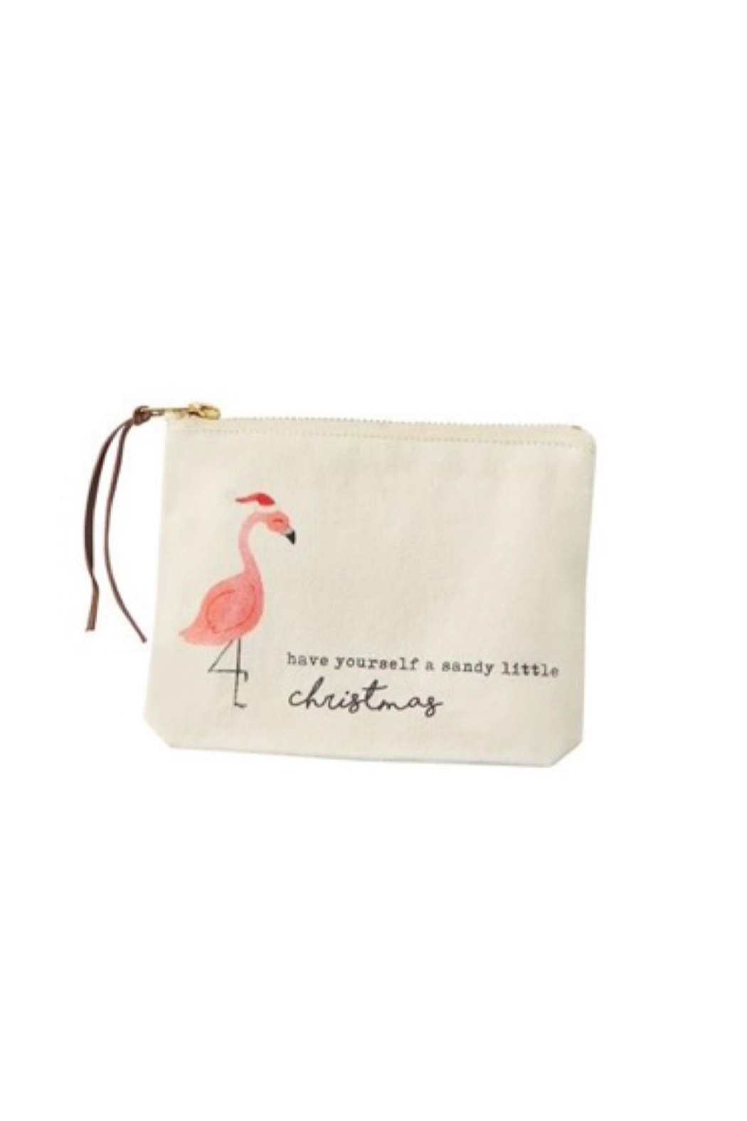 MudPie Christmas Beach Cosmetic Bags - Front Cropped Image