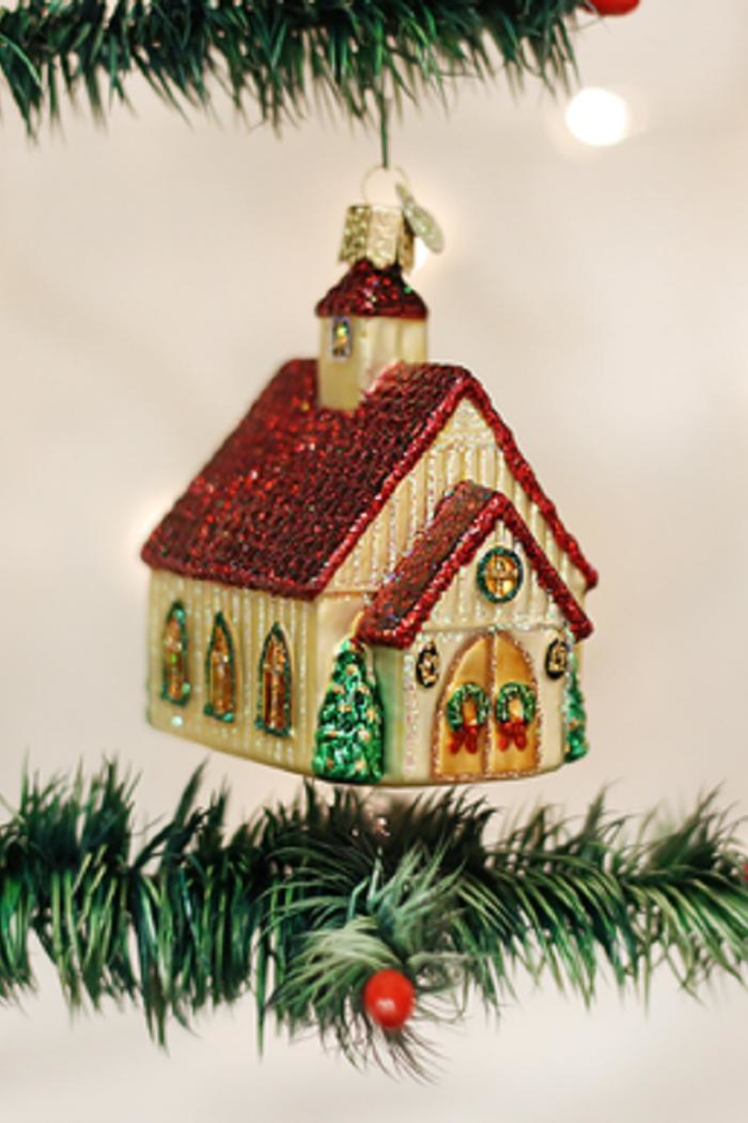 Old World Christmas Christmas Chapel Ornament - Front Cropped Image