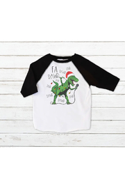 Wandering Owl Designs Christmas Dinosaur Shirt - Product Mini Image