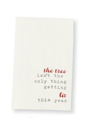 Mud Pie Christmas Drinking Towels - Front cropped