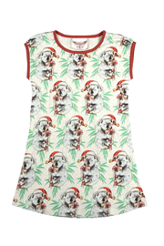 Paper Wings Christmas Koala Nightgown Dress - Front cropped