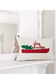 Seagate Studio Christmas Lobster Boat Pillow - Front cropped