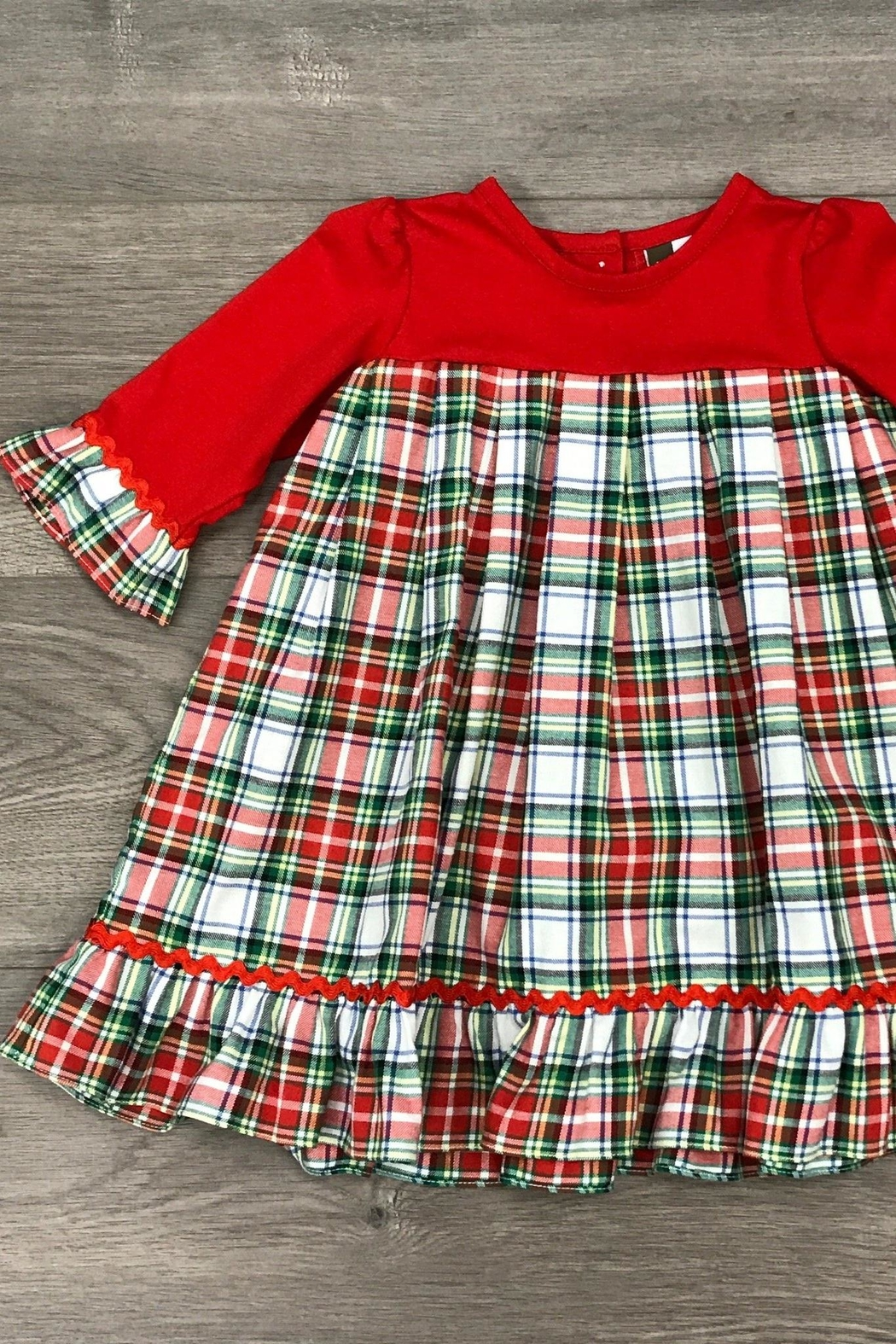 Banana Split Christmas Morning Dress - Front Cropped Image