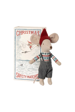 Maileg Christmas Mouse In Matchbox Big Brother PREORDER - Alternate List Image