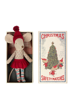 Maileg Christmas Mouse In Matchbox Big Sister PREORDER - Product List Image