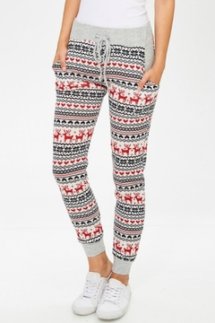Shoptiques Product: Christmas Pattern Joggers