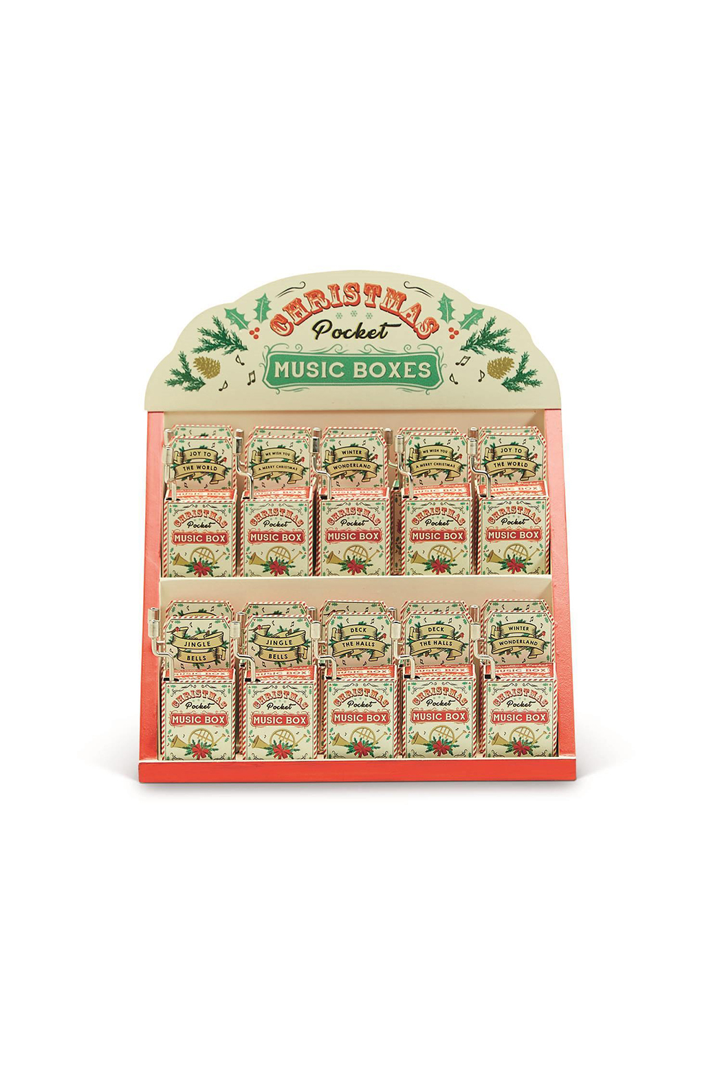 Cupcakes and Cartwheels Christmas Pocket Music Boxes - Front Cropped Image