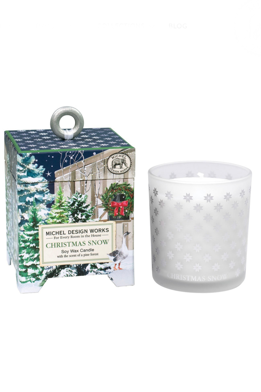 Michel Design Works Christmas Snow Candle-Small 6.5oz - Main Image
