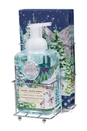 Michel Design Works Christmas Snow Foaming Hand Soap Napkin Set - Product Mini Image