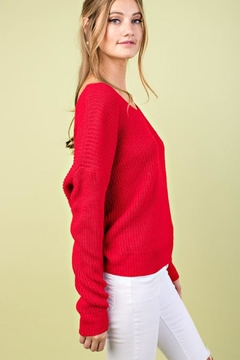 Esley Collection Tie Sweater - Alternate List Image