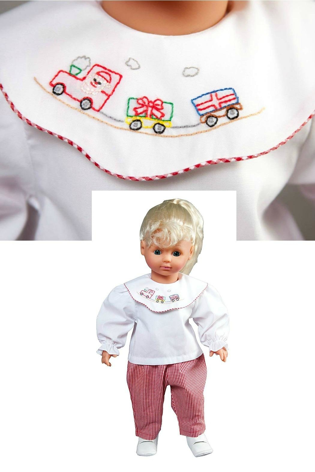 Rosalina Christmas-Train-Embroidered-Doll-Outfit - Front Full Image