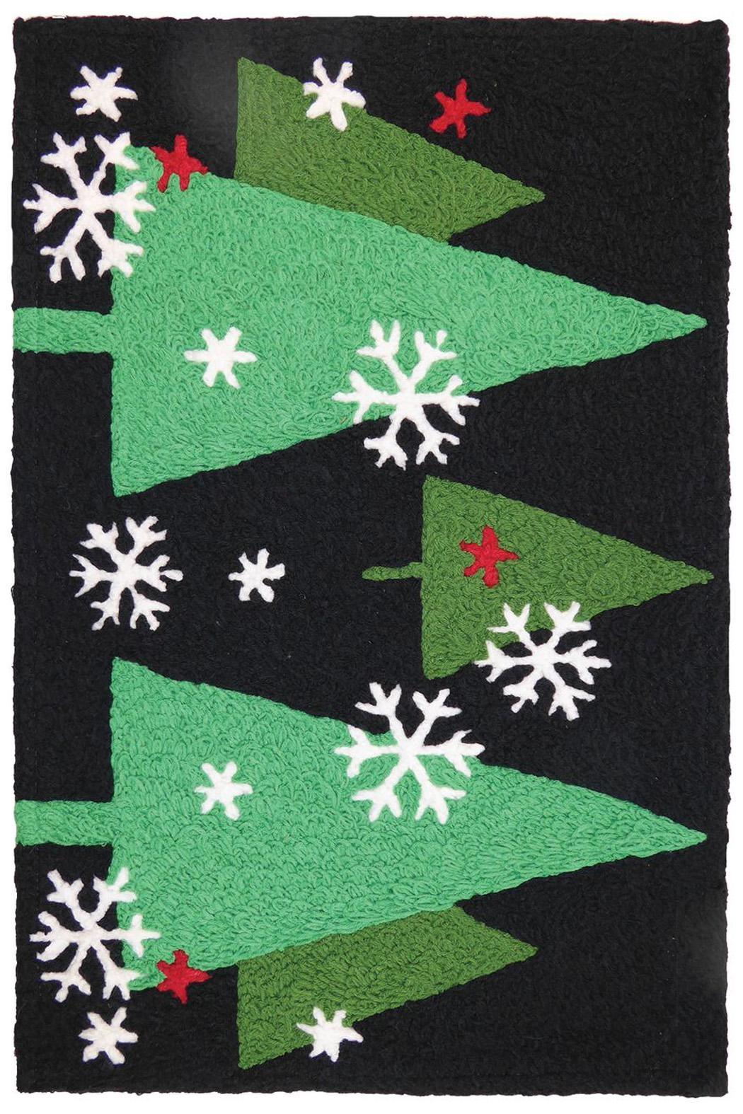 Jelly Bean Rugs Christmas Trees Night - Front Cropped Image