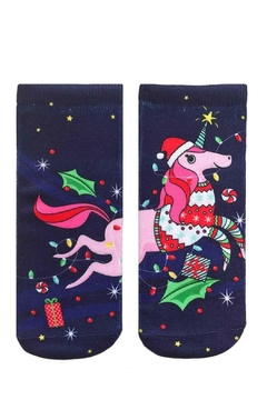 Shoptiques Product: Christmas Unicorn Socks