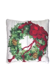 Sally Eckman Roberts Christmas Wreath Pillow - Product Mini Image
