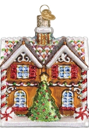 Old World Christmas Christmastime Cottage Ornament - Front full body