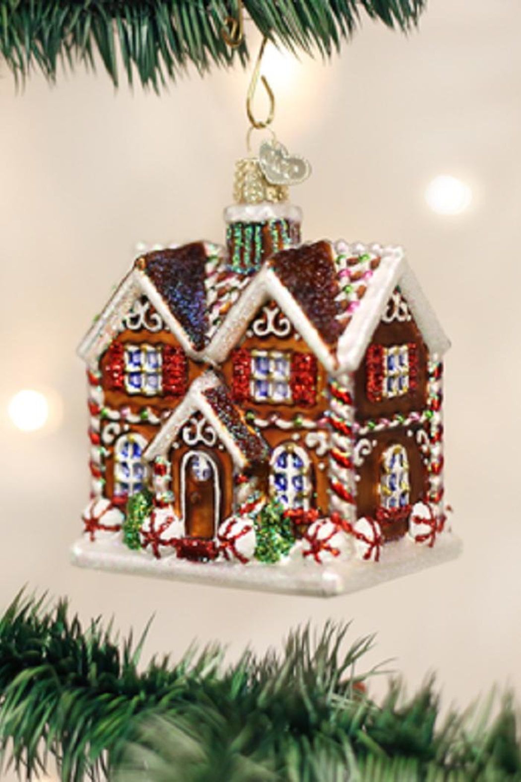 Old World Christmas Christmastime Cottage Ornament - Main Image