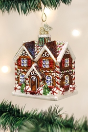 Old World Christmas Christmastime Cottage Ornament - Product Mini Image
