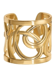 Brighton Christo Vienna Gold Wide Ring - Front cropped