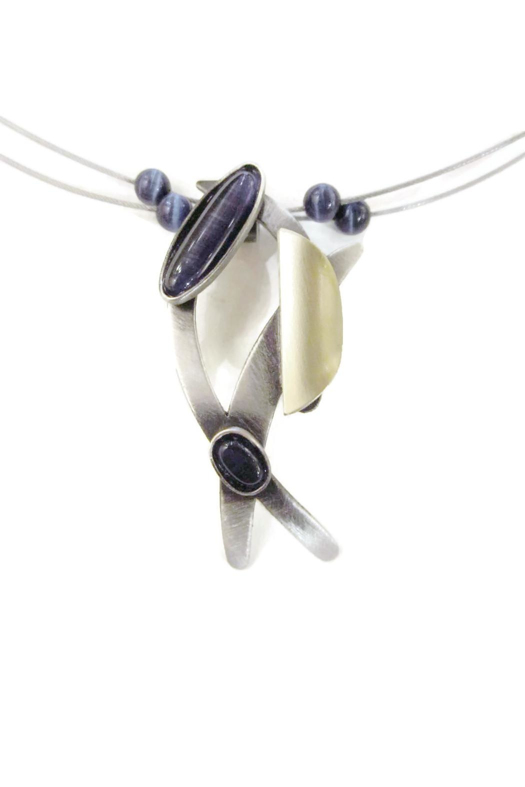 Christophe Poly Brushed Silver Necklace - Front Full Image