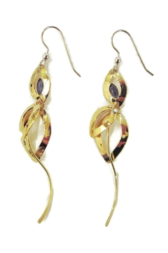 Shoptiques Product: Gold Navy Earrings