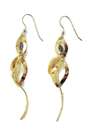 Christophe Poly Gold Navy Earrings - Product Mini Image