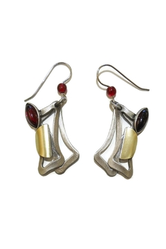 Shoptiques Product: Red Rectangles Earrings
