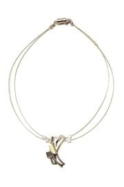 Christophe Poly Silver Curves Necklace - Product Mini Image