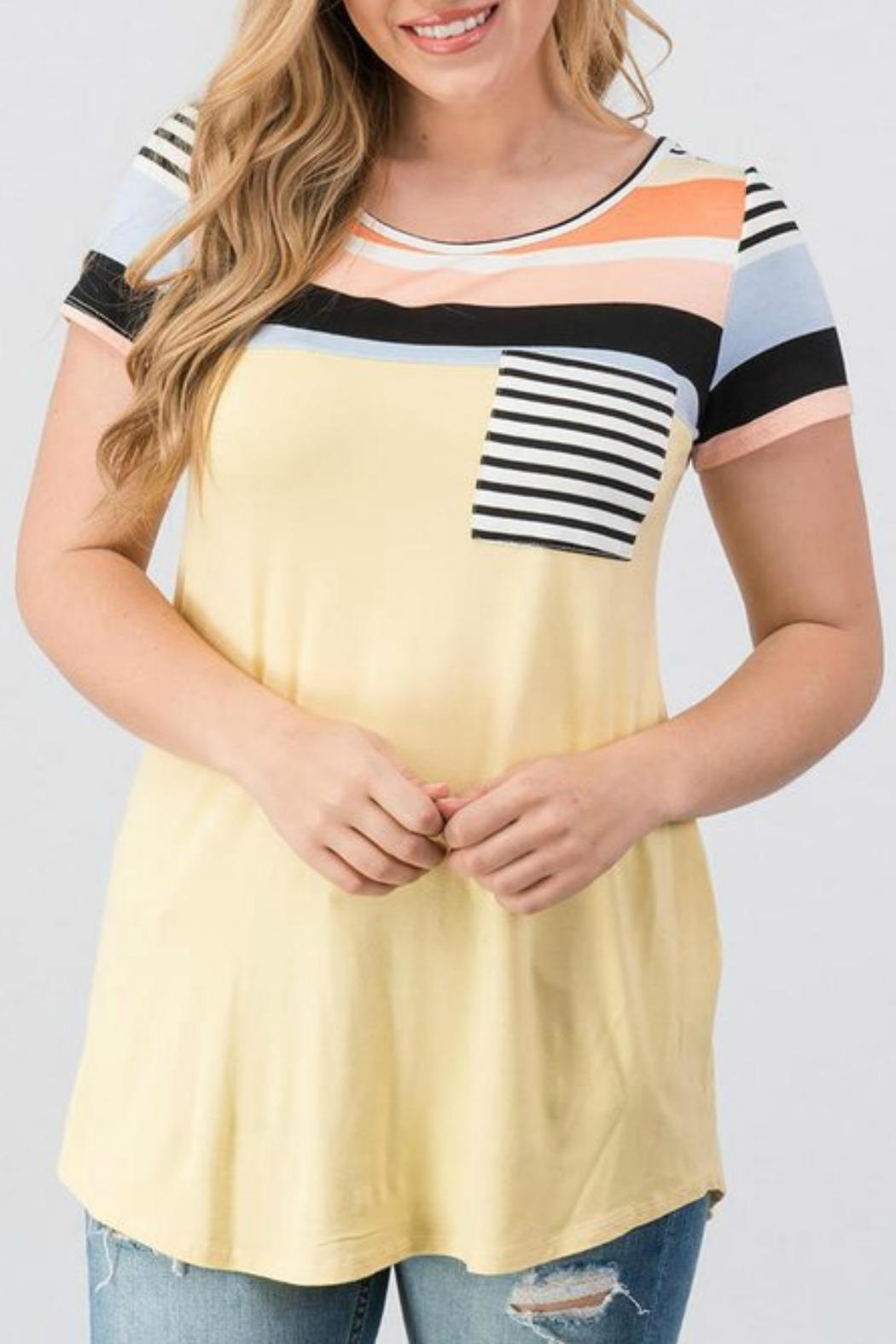 Trend:notes Christy Colorblock Tee - Main Image