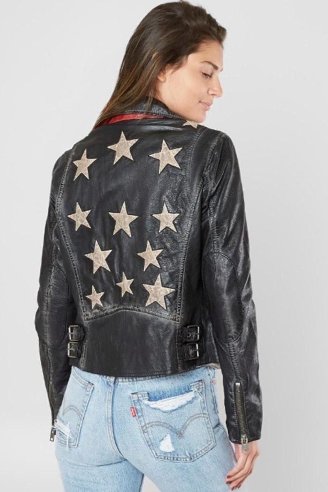 Mauritious Christy Stars Leather - Side Cropped Image