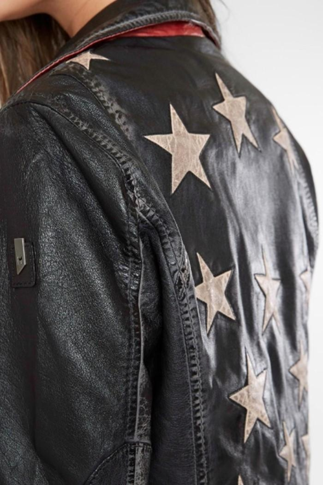 Mauritious Christy Stars Leather - Back Cropped Image