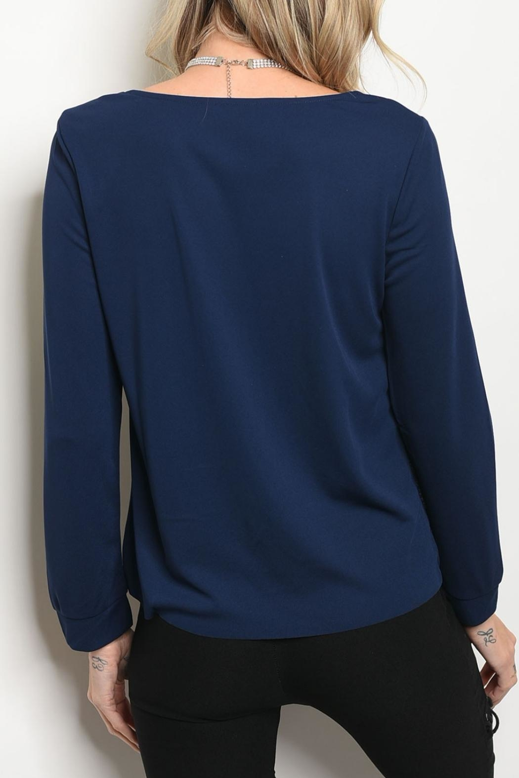 Christy & Co. Navy Silver Top - Front Full Image