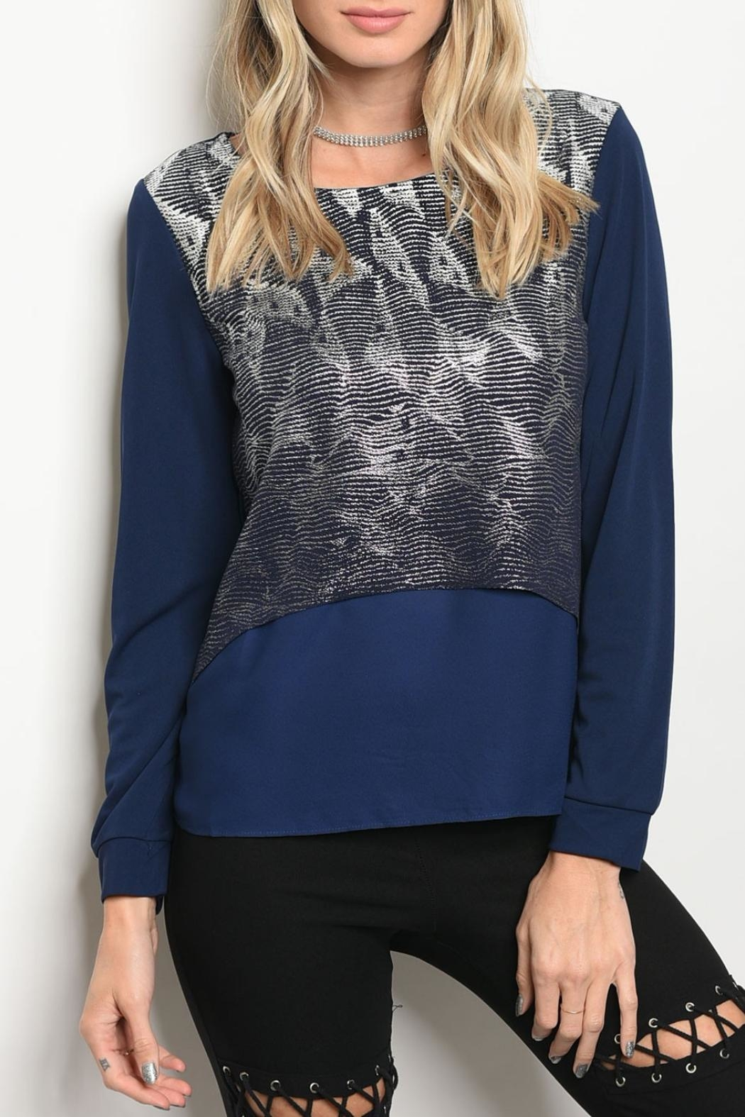 Christy & Co. Navy Silver Top - Main Image