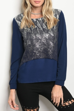 Christy & Co. Navy Silver Top - Product List Image