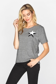 CHRLDR Double Star Wide T-Shirt - Product Mini Image