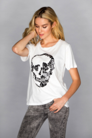CHRLDR Chrldr White Skull Graphic Tee - Product Mini Image