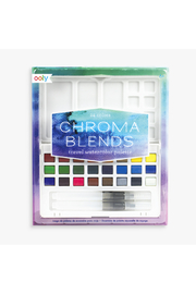 Ooly Chroma Blends Travel Watercolor Palette - Front cropped