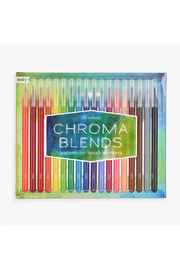 Ooly Chroma Blends Watercolor Brush Markers: Set Of 18 - Product Mini Image
