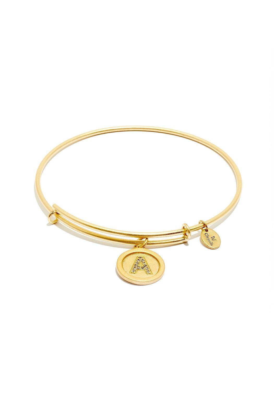Chrysalis Initial Bangle - Front Cropped Image
