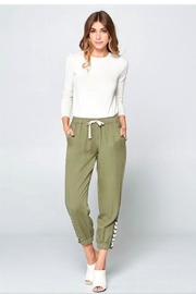 Chrysalis Olive Lace Up Pant - Front full body