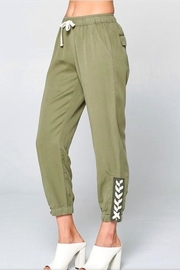 Chrysalis Olive Lace Up Pant - Side cropped