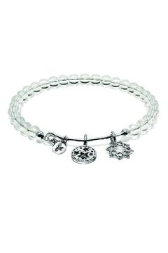 Shoptiques Product: White Crystal Bangle