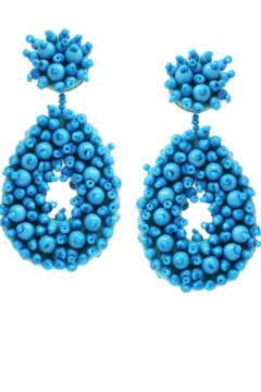US Jewelry House Chunky Beaded Teardrop Earrings - Alternate List Image