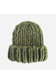 The Blueberry Hill Chunky Beanie - Olive - Product Mini Image