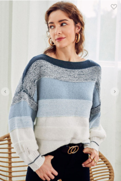 Esley Chunky Boat Neck Sweater - Alternate List Image