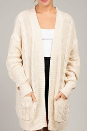 LLove USA Chunky Cable-Knit Cardi - Product Mini Image