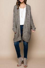 Nadya's Closet Chunky Cable Knit-Cardigan - Product Mini Image