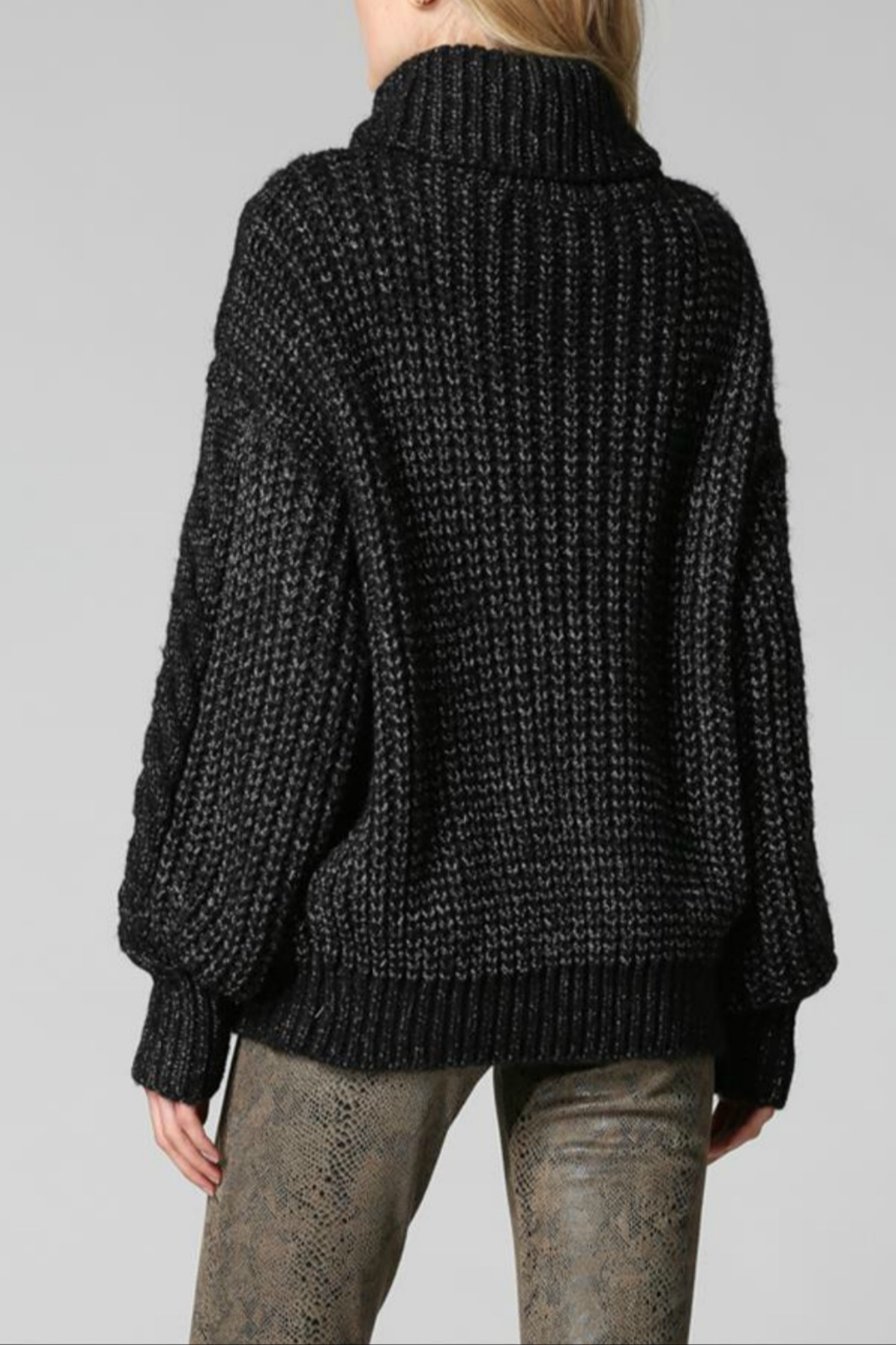 FATE by LFD Chunky cableknit sweater - Front Full Image
