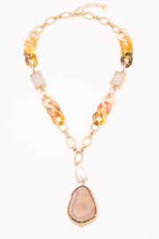 Nakamol  Chunky Chain Geode Necklace - Front cropped